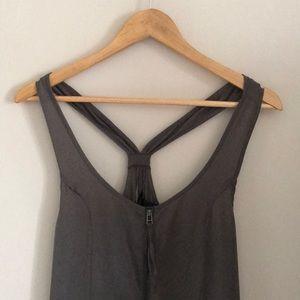 H&M Gray Ruffle Dress